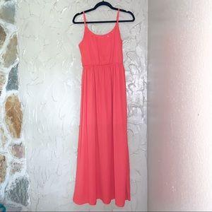Studded Chiffon Maxi Dress
